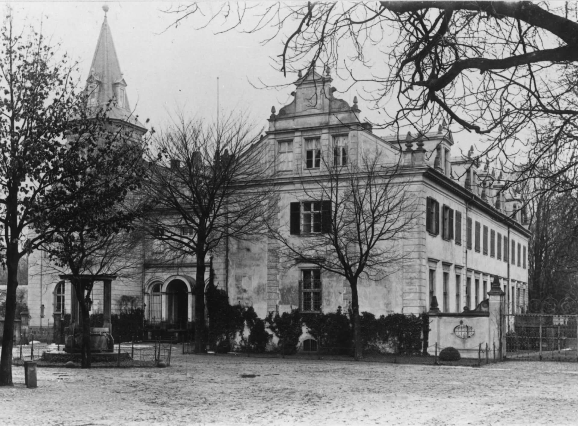 Historische Ansicht zur Geschichte von Schloss Liebenberg