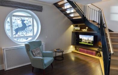 Ansicht der Suite mit gemütlichem Wohnzimmer