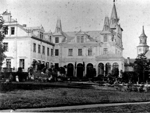 Historische Parkansicht von Schloss Liebenberg